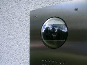 Videoüberwachter Hauseingang.